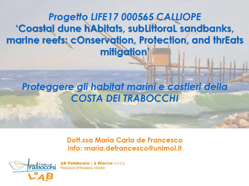 Proteggere gli habitat marini e costieri della COSTA DEI TRABOCCHI
