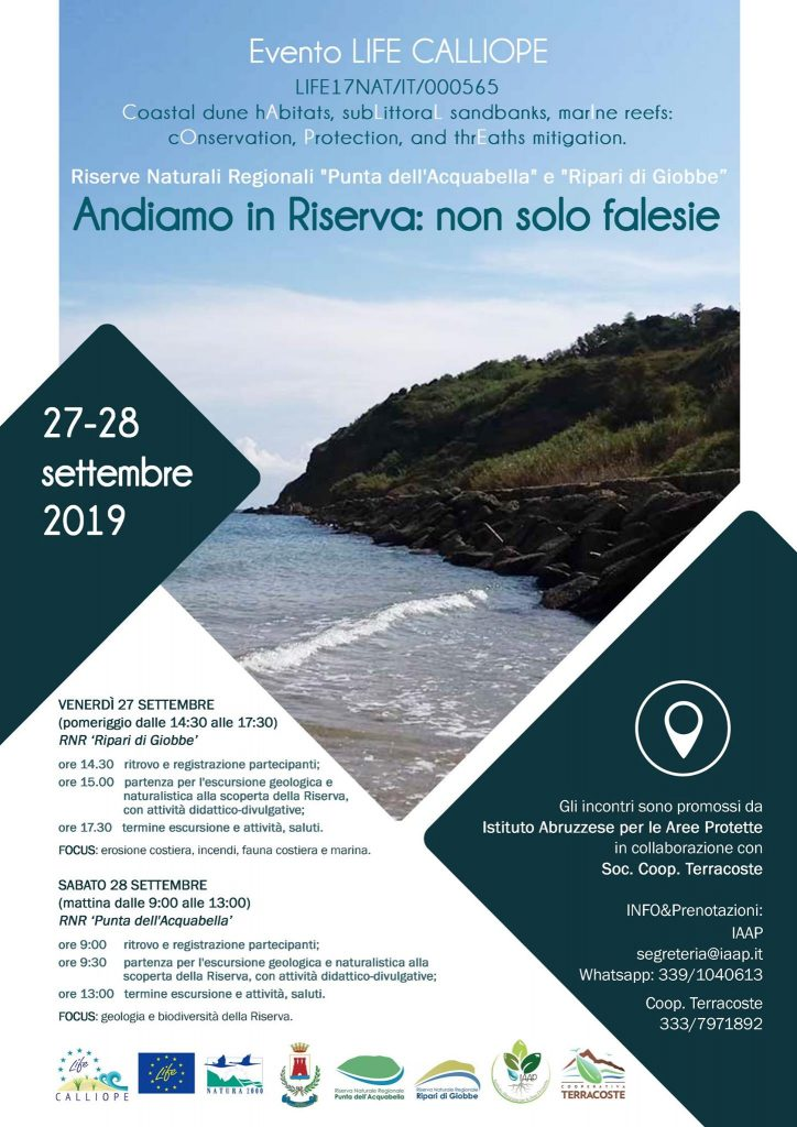 2019 – Evento LIFE CALLIOPE – Andiamo in Riserva: non solo falesie