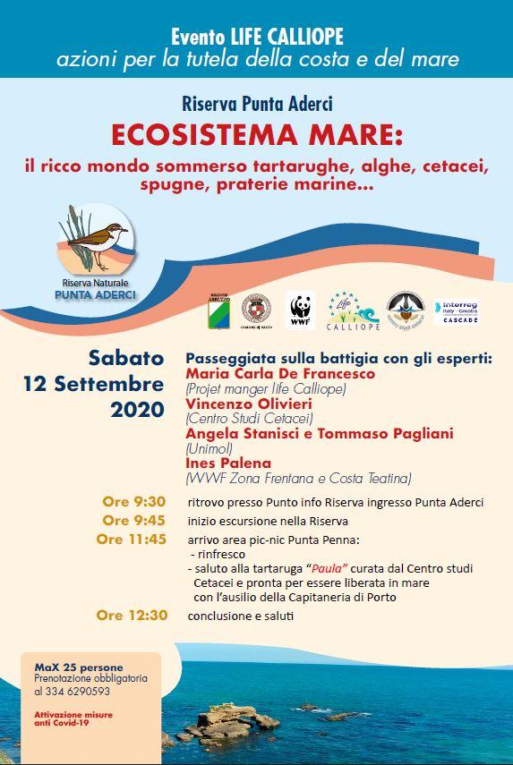 2020 – Escursione Riserva Punta Aderci – ECOSISTEMA MARE