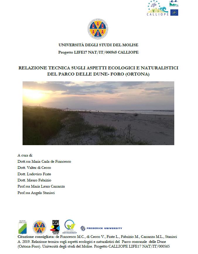 Aspetti Ecologici e Naturalistici Parco delle Dune – Foro (Ortona)