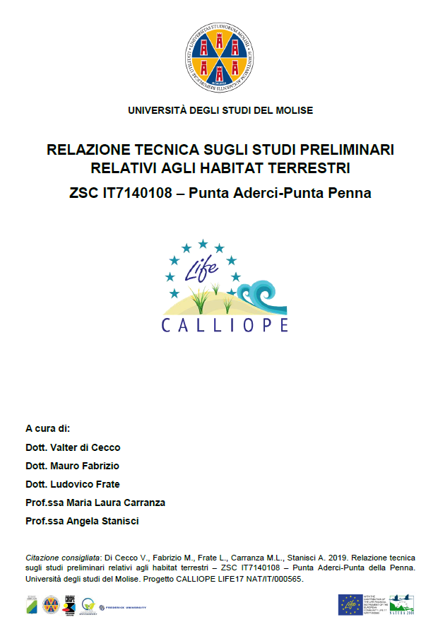 Studi Preliminari Habitat Terrestri – – Punta Aderici – Punta Penna