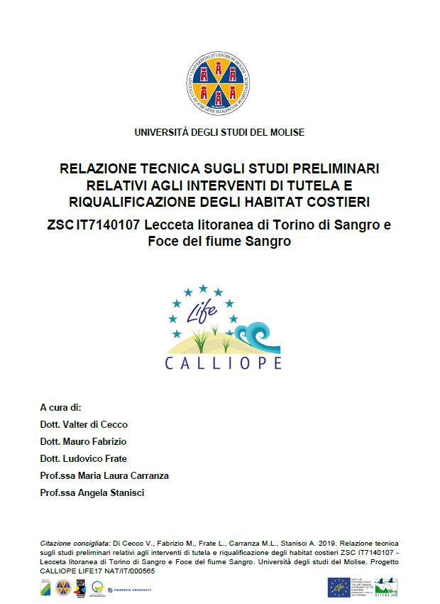Interventi di tutela e riqualificazione degli habitat costieri – Lecceta litoranea di Torino di Sangro e Foce del fiume Sangro