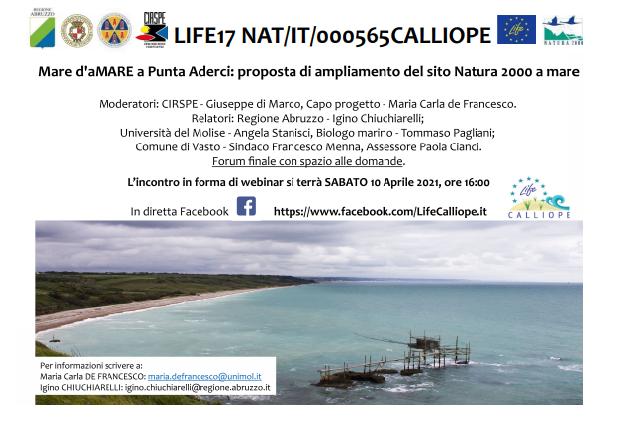 2021 – Webinar Proposta di ampliamento del sito Natura 2000 a mare